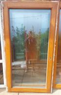 Dubové okno - Euro profil 94x175 1xP,1xL